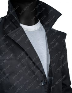 Billy Butcher The Boys Trench Black Cotton Coat