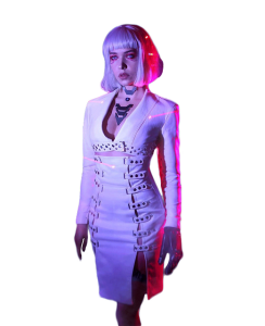 Cyberpunk Night City Neon Girl Jacket
