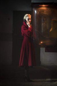 Margot Robbie Annie Terminal Red Wool Trench Coat image 0