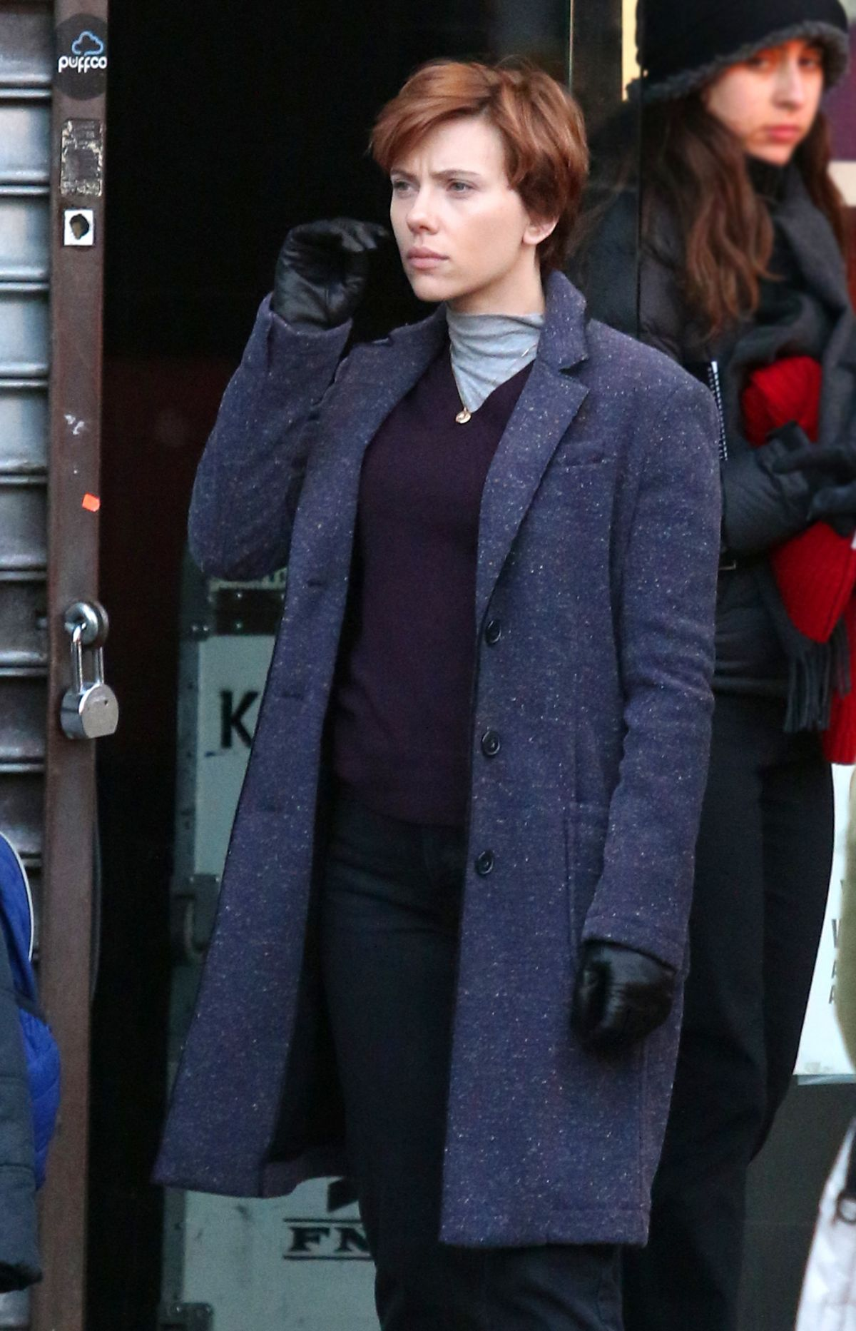 Scarlett Johansson Marriage Story Wool Blend Trench Coat