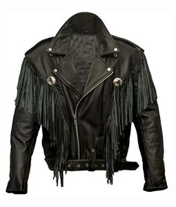 Money-Heist-Nairobi-Black-Biker-Jacket-With-Fringe