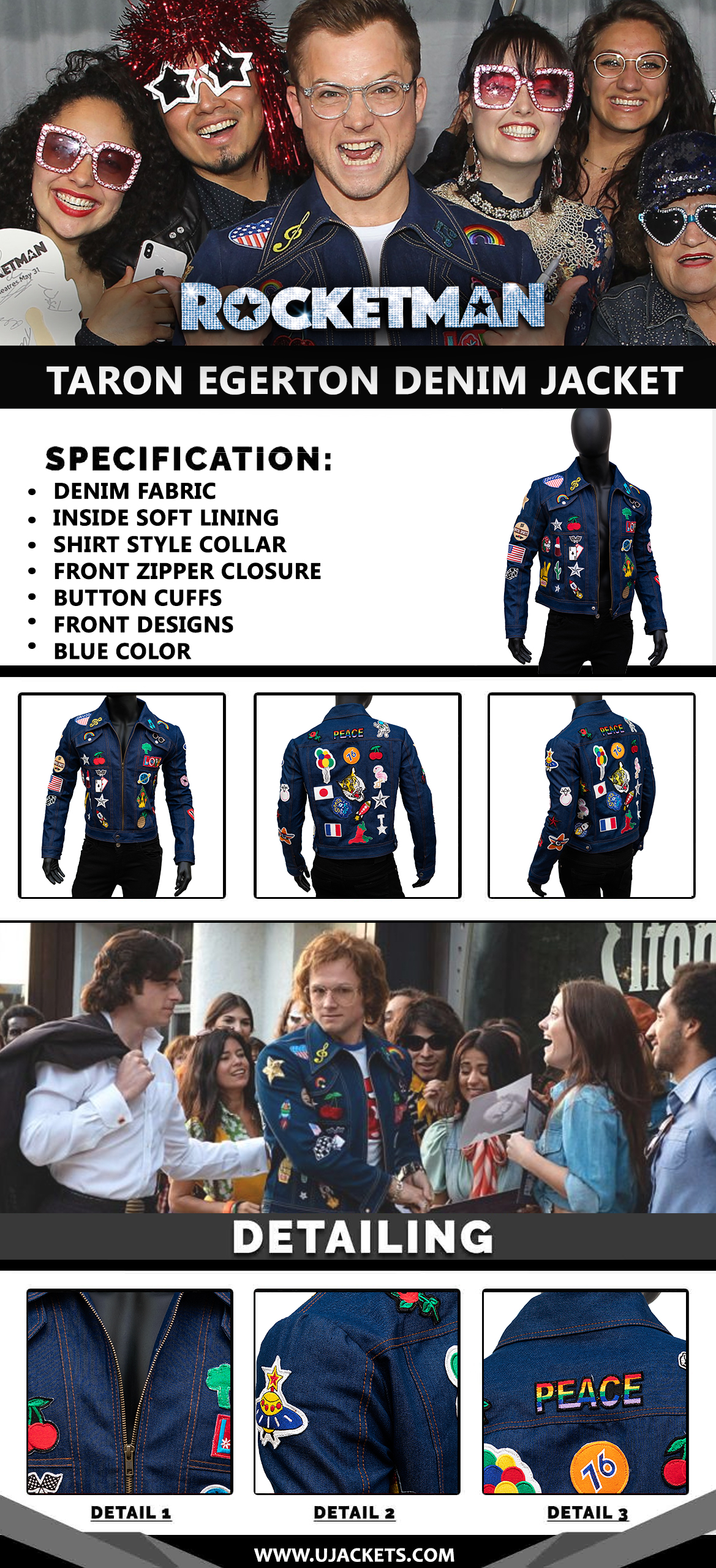 Rocketman-Taron-Egerton-Denim-Jacket--infographic