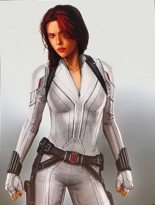 Scarlett Johannson Black Widow White Jacket