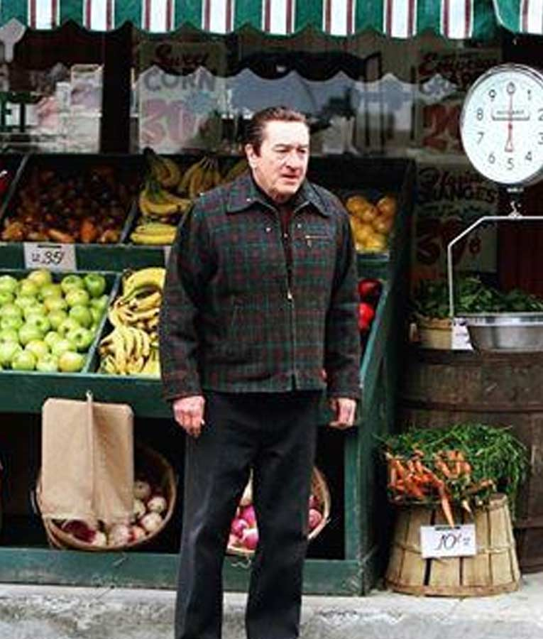 The-Irish-man-Robert-De-Niro-Checkered-Jacket