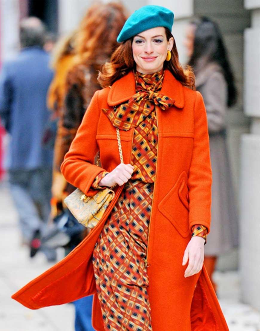 Anne Hathaway Modern Love Orange Coat