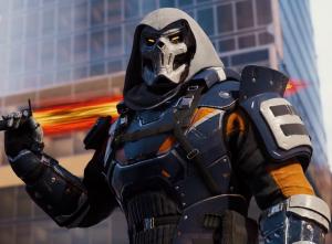 Black Widow Taskmaster Jacket with Hooded Collar