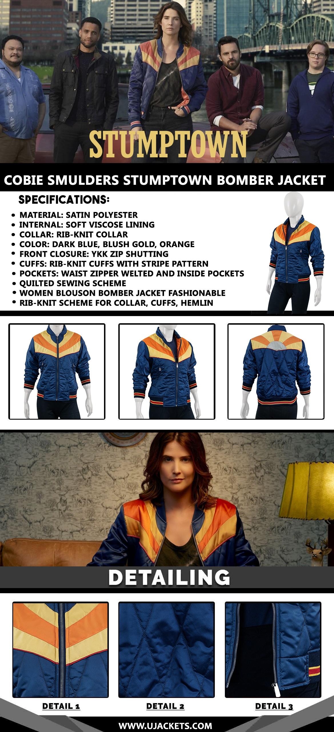 Cobie-Smulders-Stumptown-Bomber-Jacket (1)