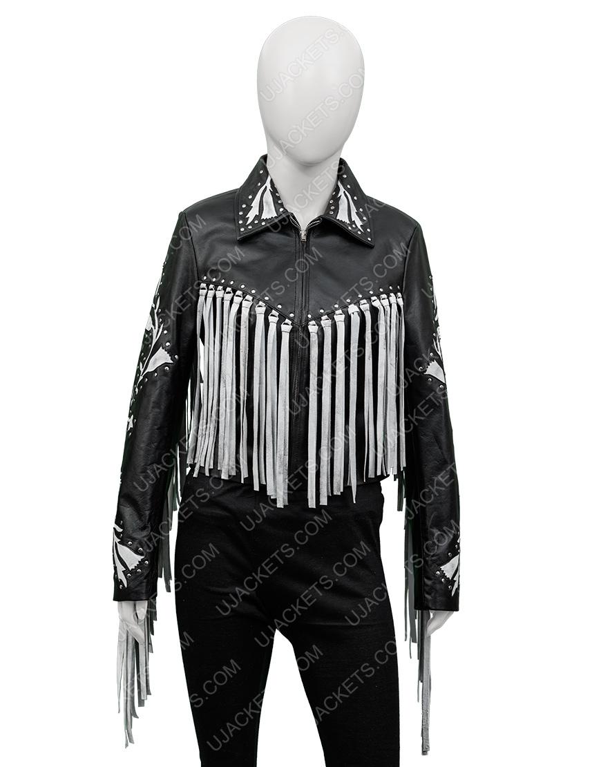 Harley Quinn Birds Of Prey Real Leather Fringe Jacket
