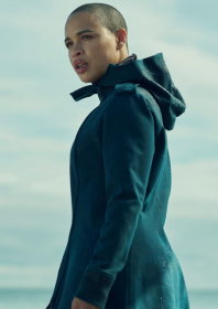 In the Shadow of the Moon Cleopatra Coleman Jacket with Hooded Collar