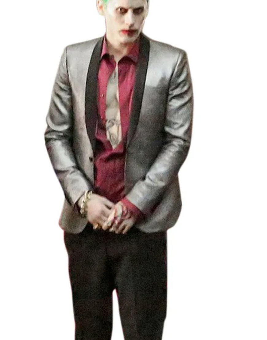 Jared Leto Suicide Squad Golden Blazer Coat