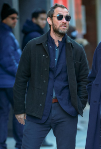 Jude Law The Rhythm Section Wool Blend Jacket