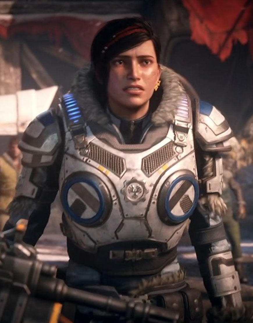 Kait Diaz Gears 5 Artic Armor Leather Jacket
