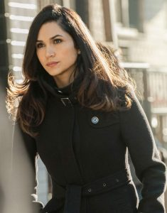 Lela Loren Angela Valdes Power Trench Coat