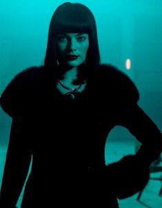 Margot Robbie Annie Terminal Shearling Fuax Fur Black Coat