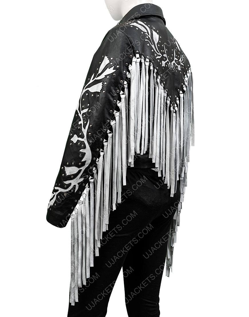 Margot Robbie Birds Of Prey Real Leather Fringe Jacket