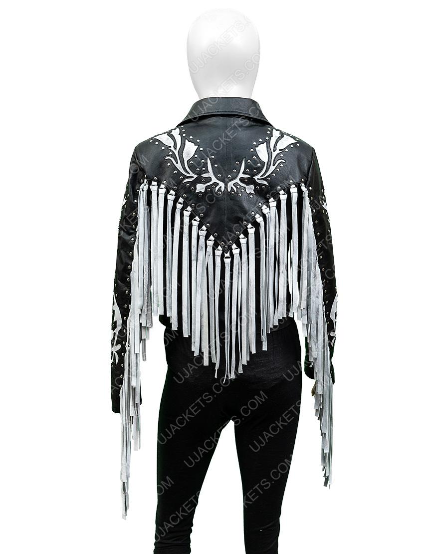 Margot Robbie Harley Quinn Birds Of Prey Real Leather Fringe Jacket