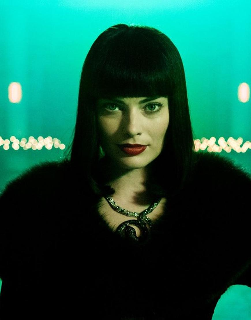 Margot Robbie Terminal Shearling Fuax Fur Black Coat