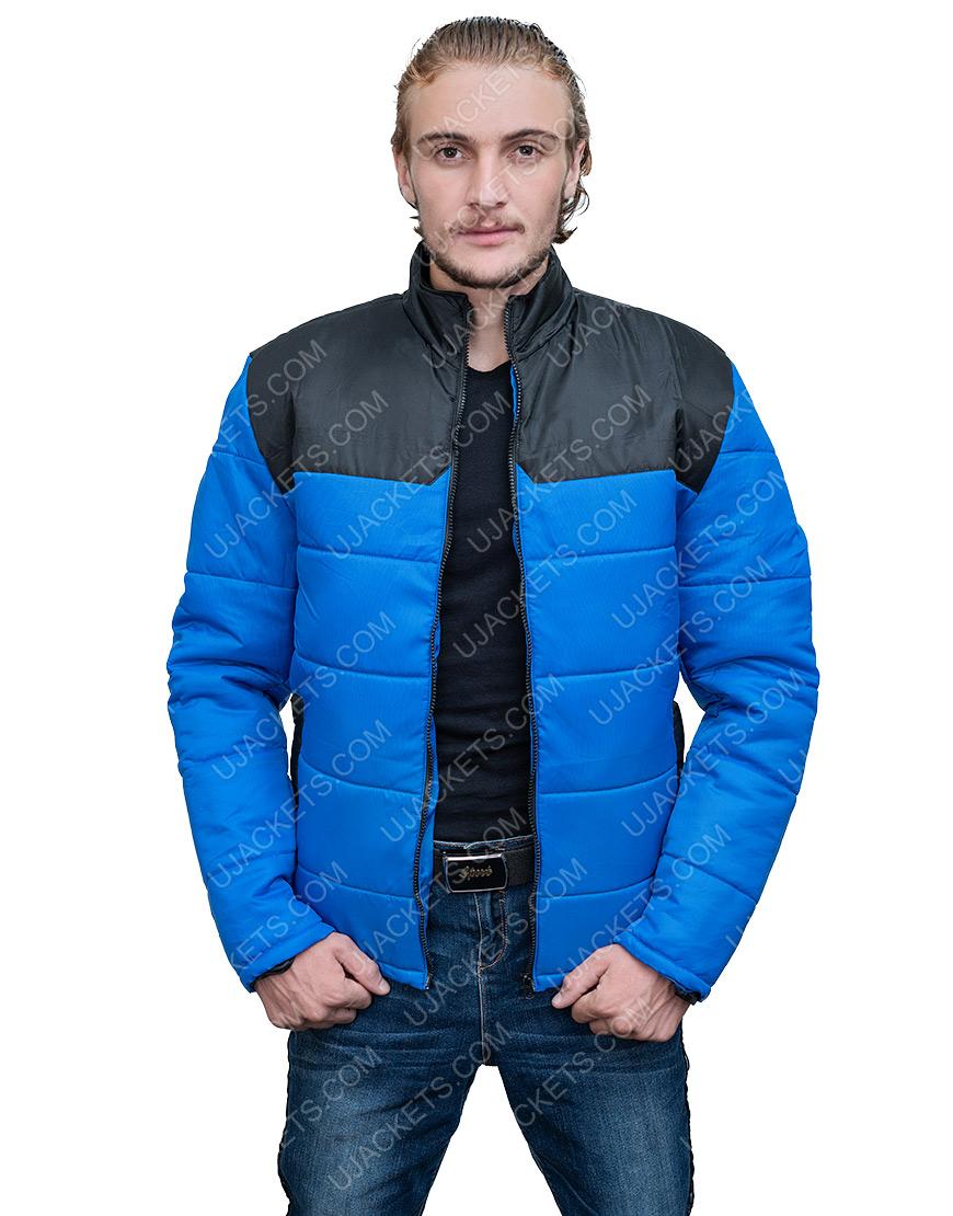 Micheal Ward Top Boy S3 Blue Puffer Jacket