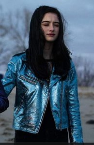 Raffey Cassidy in Vox Lux Jacket