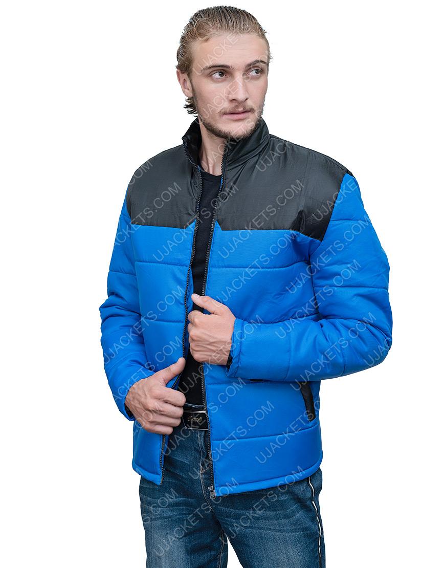 Top Boy S3 Micheal Ward Blue Pufefr Jacket