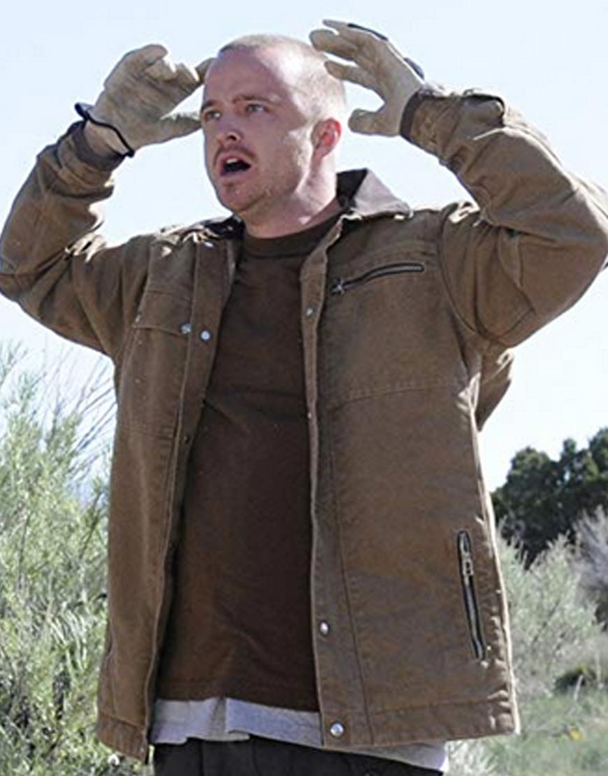 Aaron-Paul-Breaking-Bad-Jesse-Pinkman-Brown-Cotton-Jacket