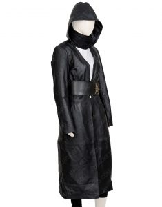 Regina King Angela Abar Watchmen Leather Hooded Trench Coat
