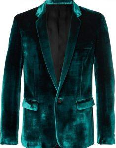 Birds-of-Prey-Black-Mask-Velvet-Blazer-Coat