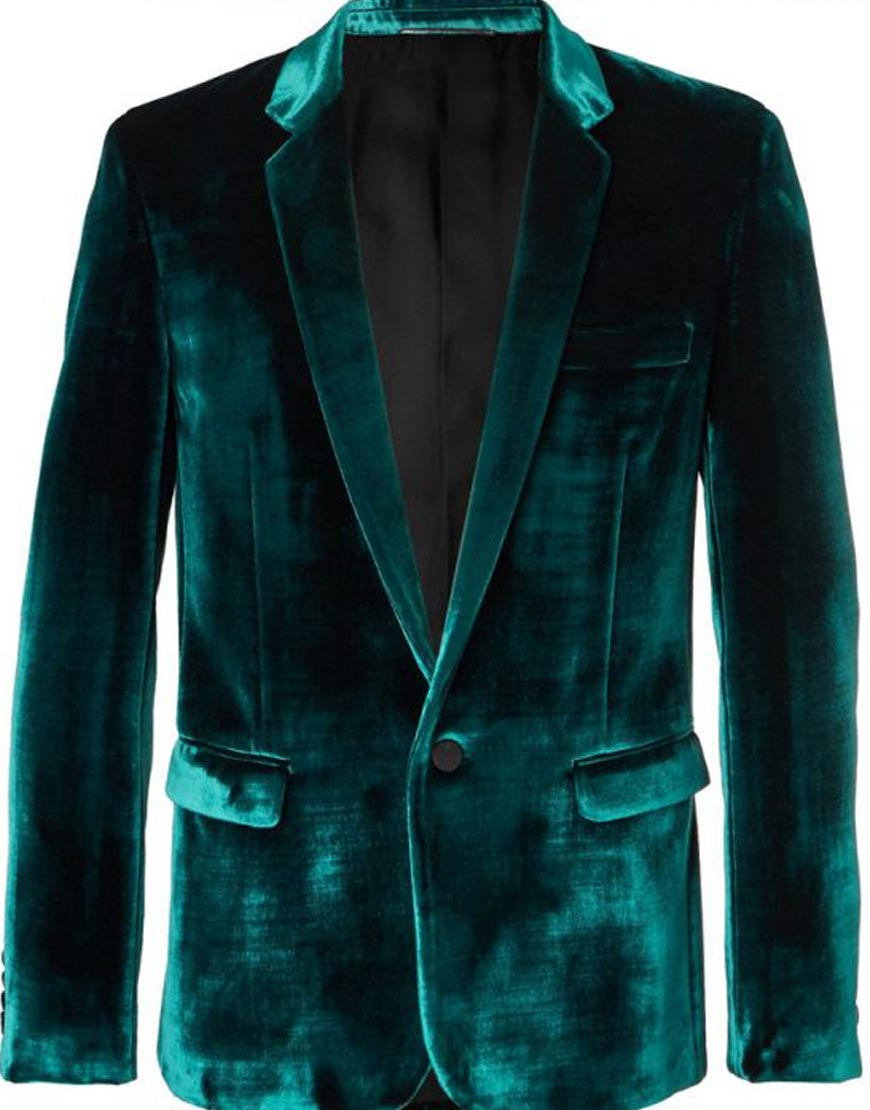 Birds-of-Prey-Black-Mask-Velvet-Blazer-Coat