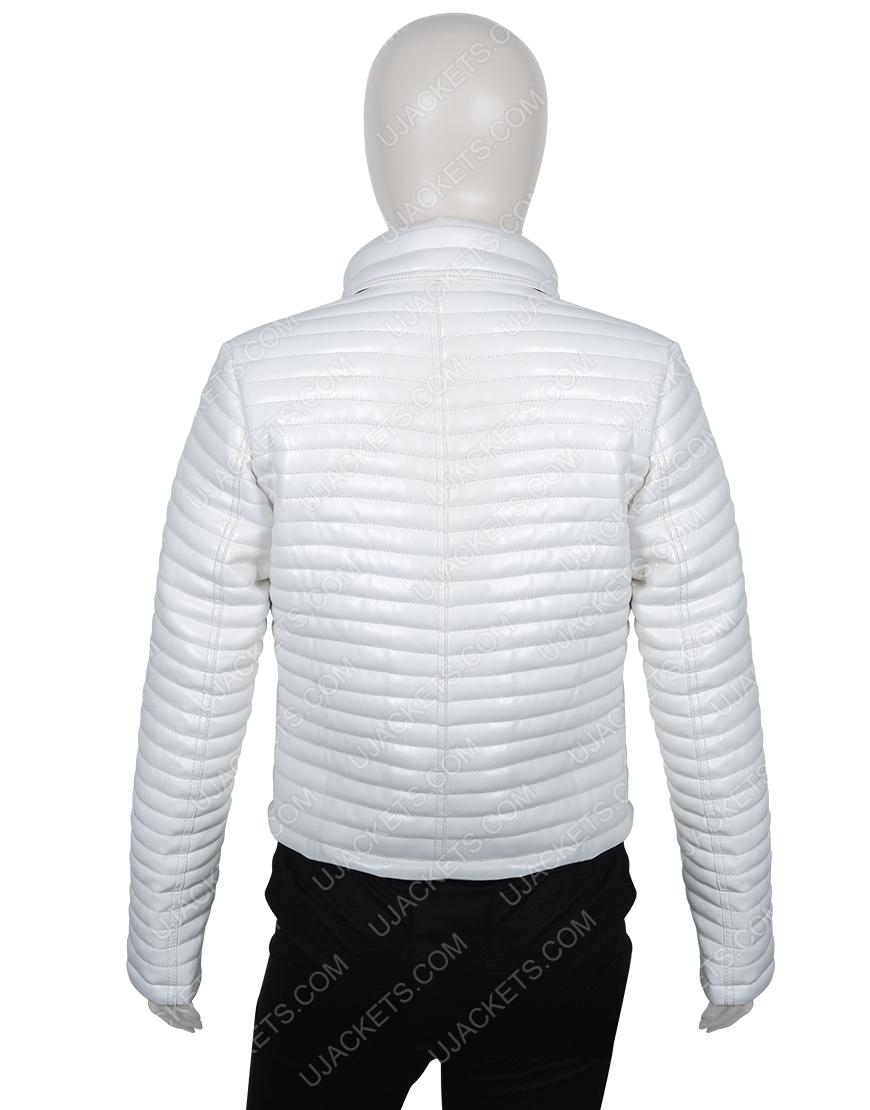 Eiza Gonzalez Bloodshot Wide Collar Puffer Jacket