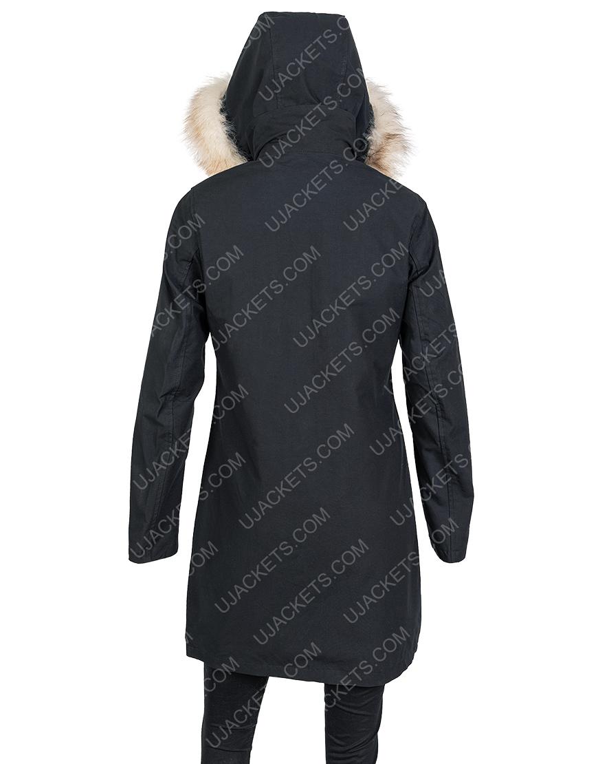 Isabela Merced Let It Snow Fur Hooded Jacket