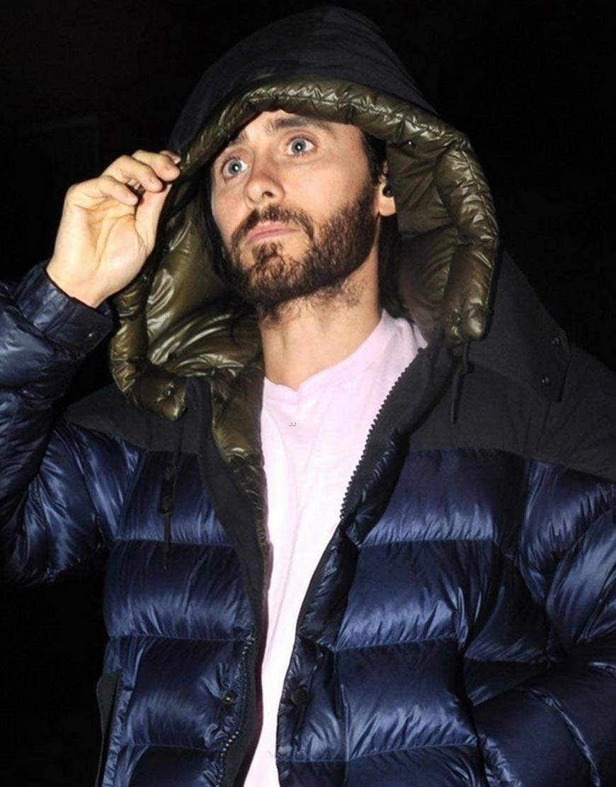 Jared-Leto-Morbius-Film-Shooting-Puffer-Hoodie-Jacket