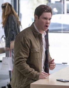 Jexi-adam-devine-brown-jacket