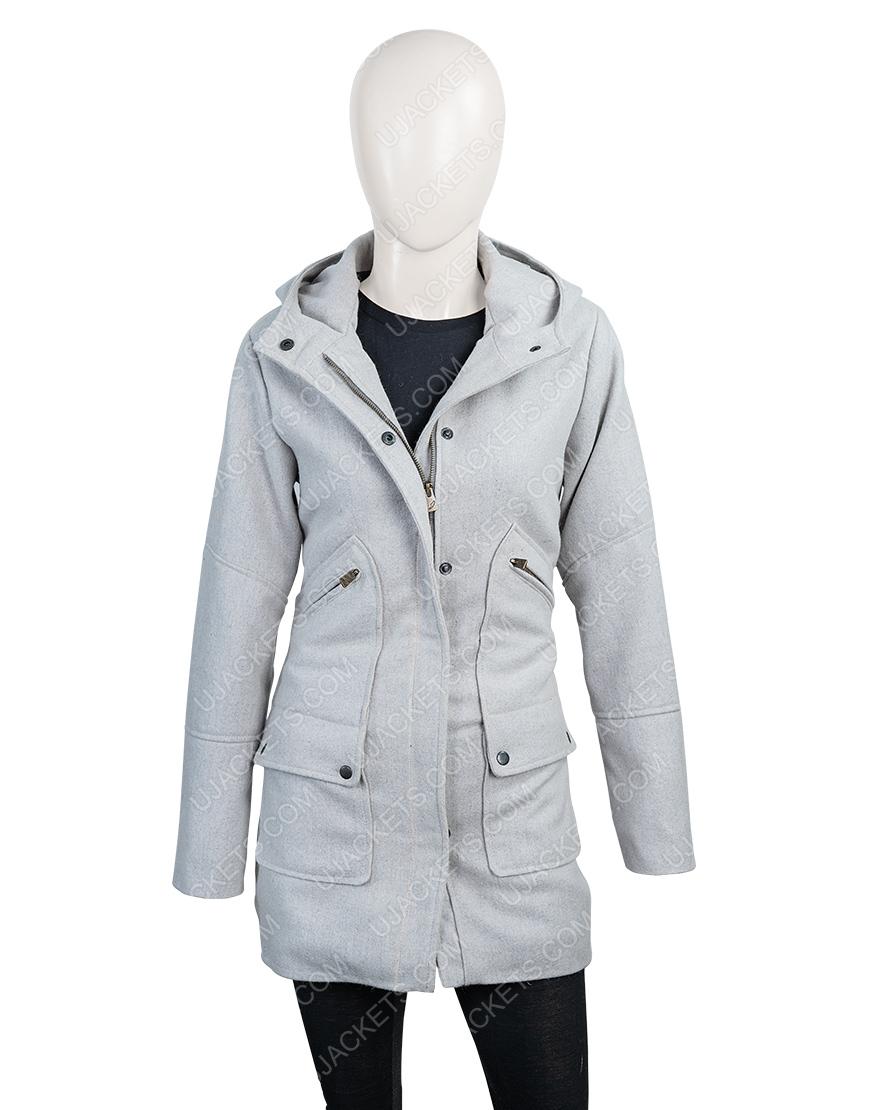 Marta Cabrera Movie Knives Out Ana de Armas Grey Long Woolen Coat