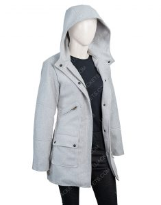 Marta Cabrera Movie Knives Out Ana de Armas Grey Woolen Coat