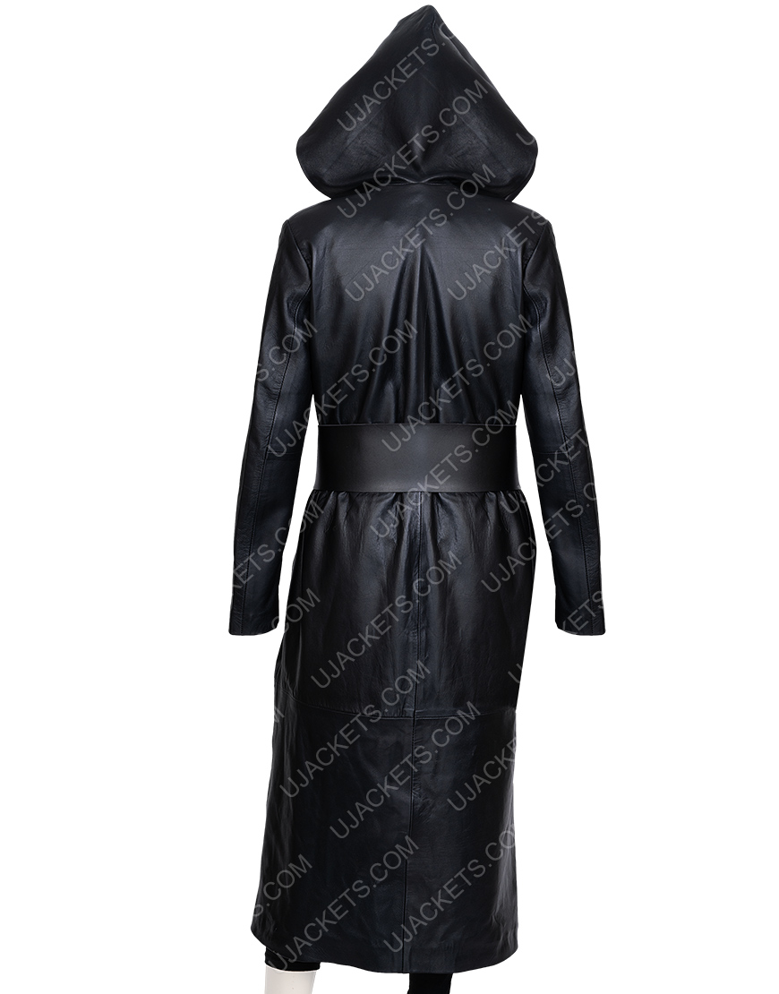 Regina King Angela Abar Watchmen Black Hooded Trench Coat