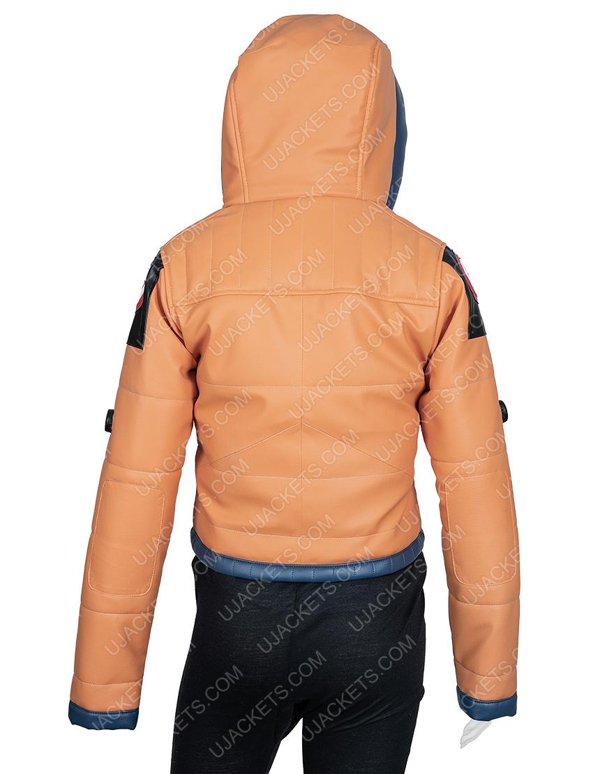 Wattson Apex Legends S02 Leather Hoodie Jacket