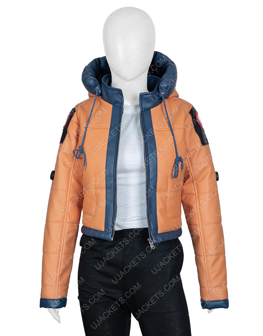 Wattson Apex Legends Season 2 Orange Leather Jacket