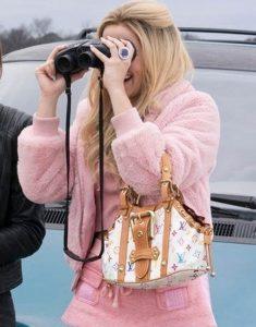 Zombieland-2-Zoey-Deutch-Madison-Wool-Fleece-Pink-Jacket