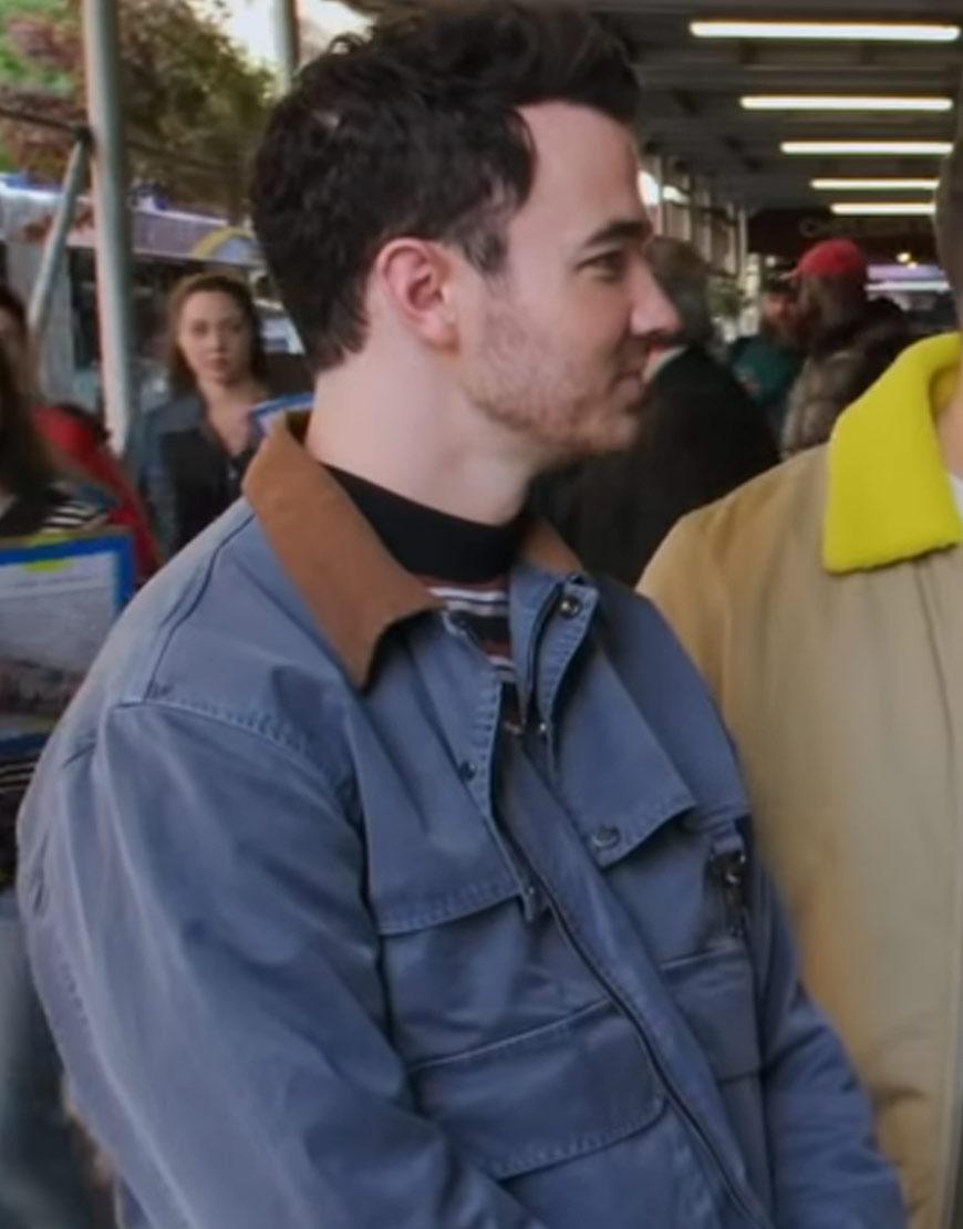 Billy-on-the-Street-Kevin-Jonas-Satin-Blue-Jacket