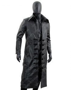 Black Mens Long Trench Coat