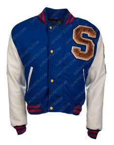 Blue and White Varsity Jacket Of Sonic The Hedgehog