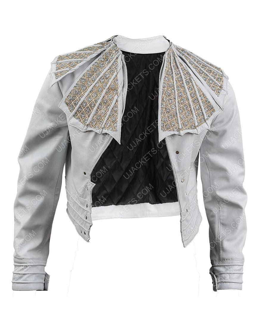 Bohemian Rhapsody Angry Lizard Rami Malek White Jacket
