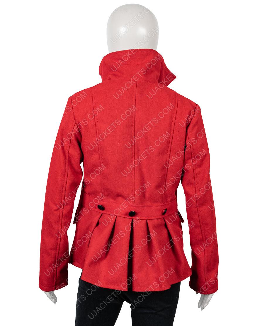 Brooke Christmas in Love Red Woolen Blend Coat