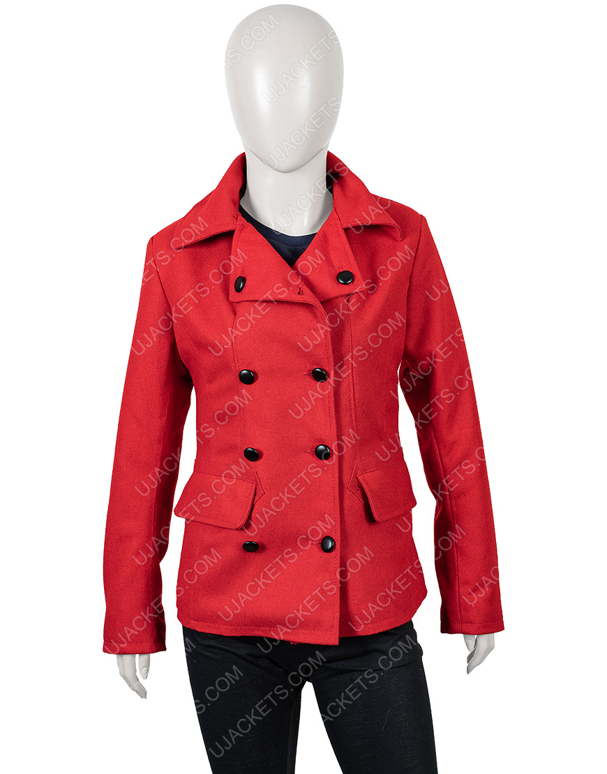Brooke D'Orsay Christmas in Love Red Woolen Blend Coat