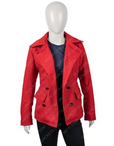 Brooke D'Orsay Christmas in Love Red Woolen Coat