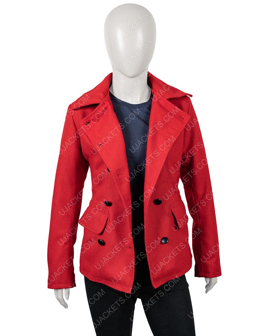 Brooke D'Orsay Christmas in Love Red Woolen Coat