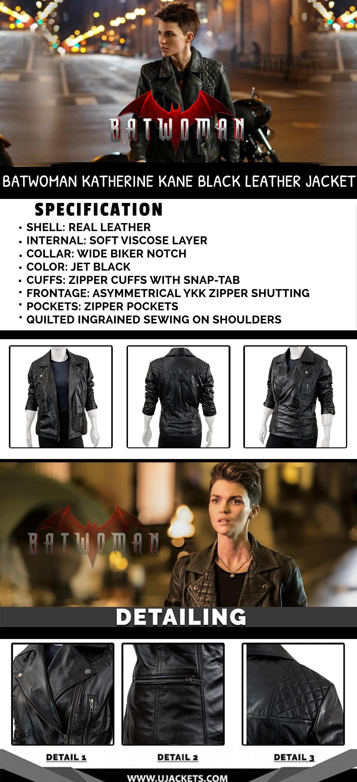 Btawoman Black leather Jacket