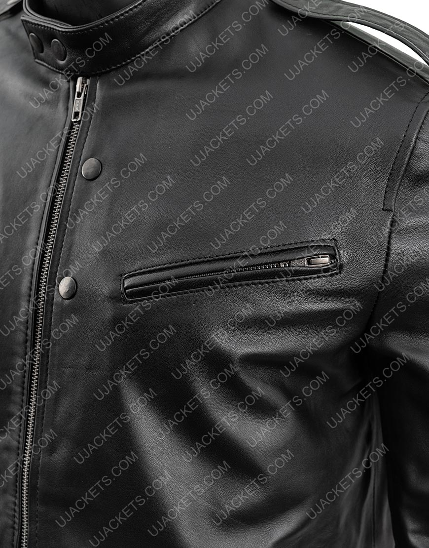 Chicago Pd Antonio Dawson Black Leather Detective Jacket