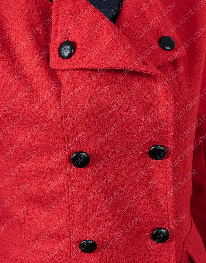 Christmas in Love Brooke D'Orsay Red Woolen Blend Coat