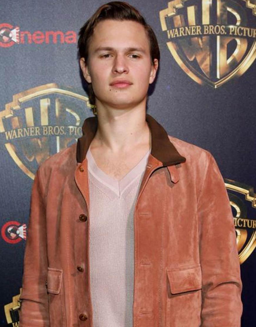 CinemaCon-2019-Ansel-Elgort-Brown-Velvet-Jacket